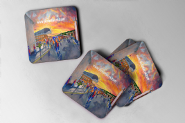selhurst park Coaster going to the match set of 4